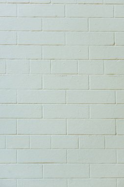 Close-up view of white textured brick wall background stock vector