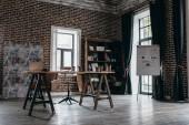 design interiéru moderní prostorný loft úřadu