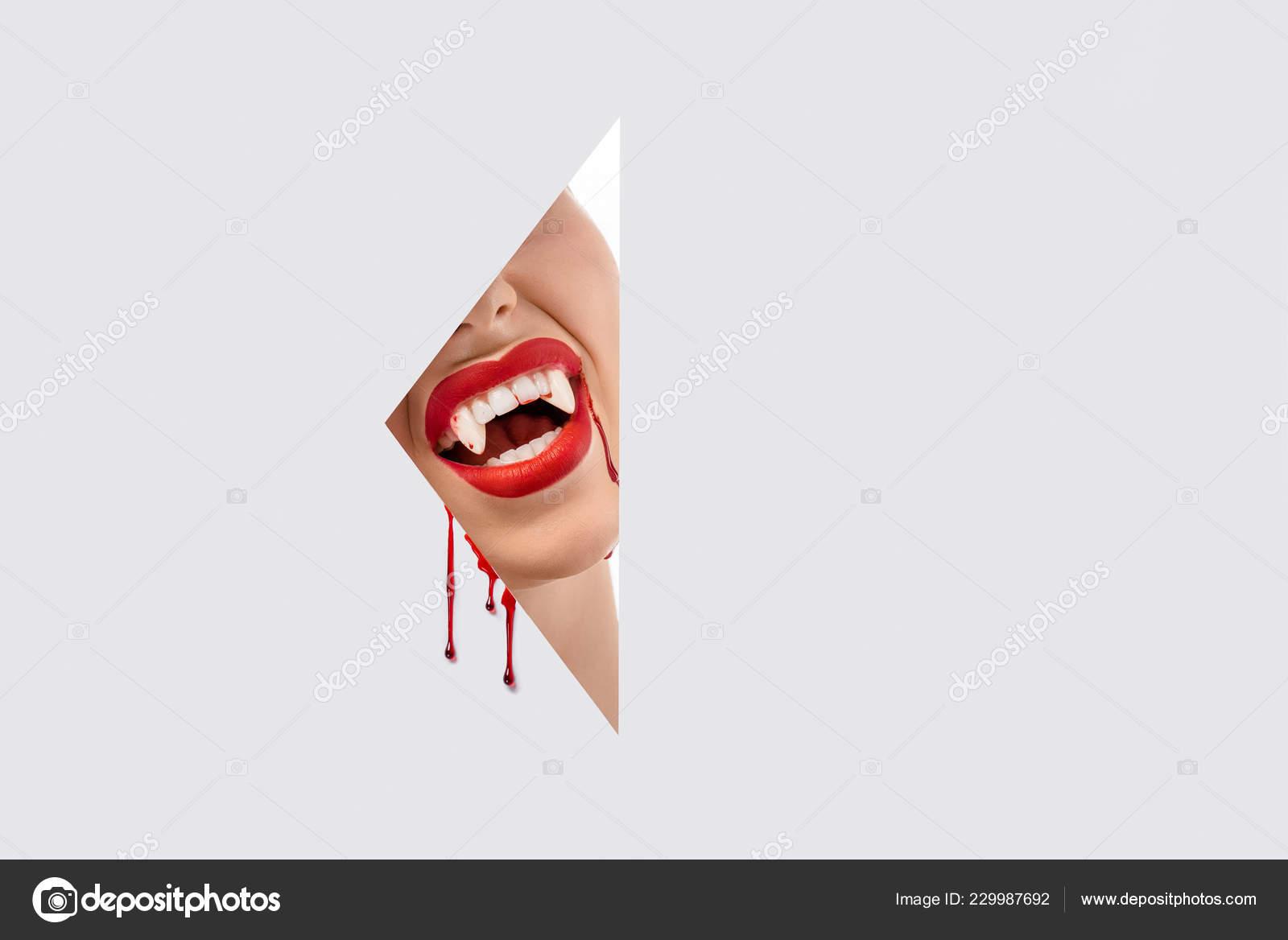 White tooth hole A hole