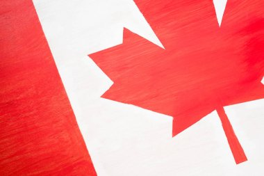 background of canadian flag with maple leaf