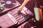 vágott megható nightclub dj felszerelés dj lány képe
