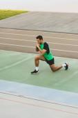 Fotografie sportovní sportovec na stadionu