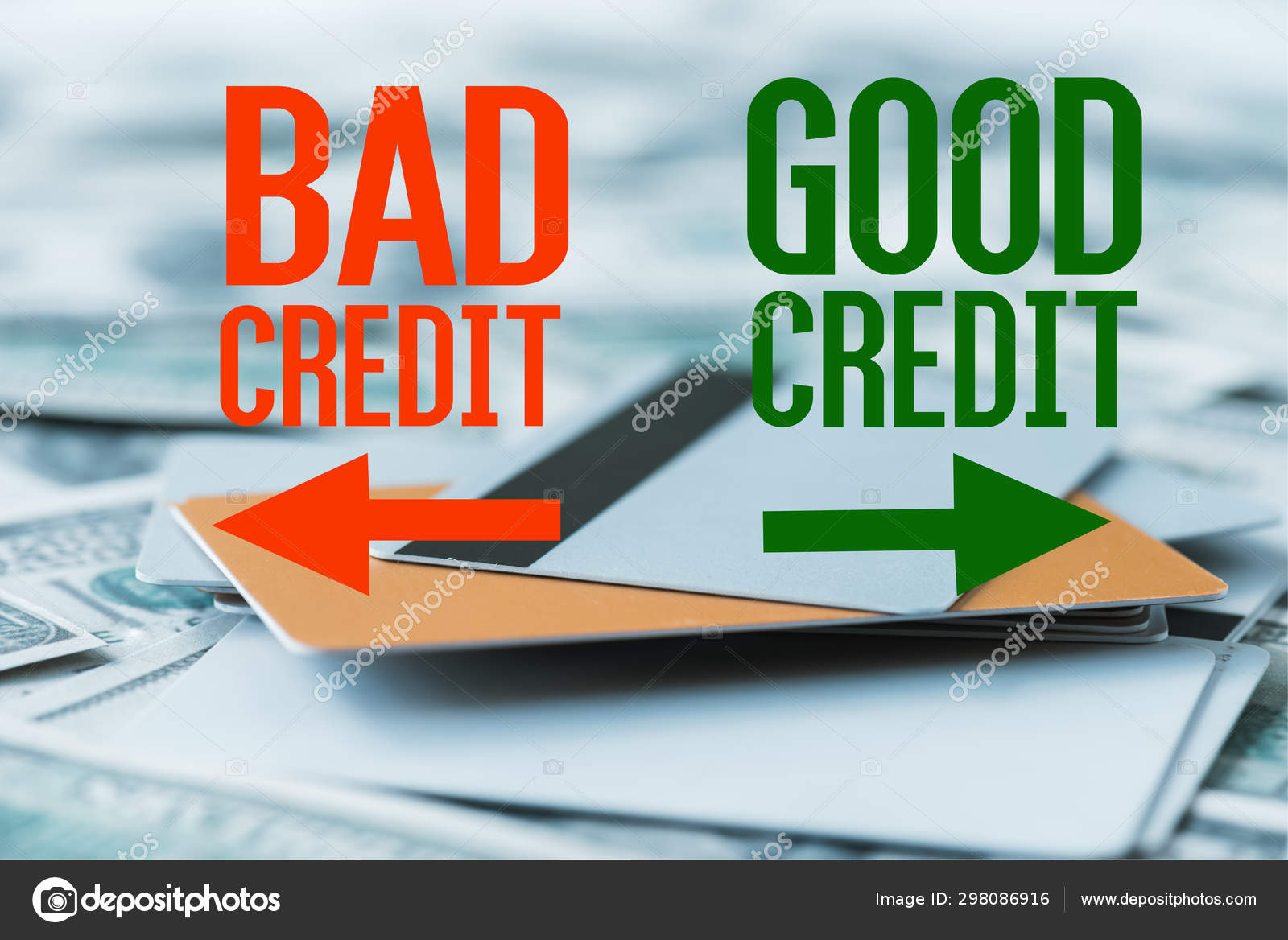 Credit Cards For Bad Credit >> Selective Focus Pile Credit Cards Bad Credit Good Credit