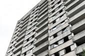 alacsony látószögű nézet épület ablak csernobili