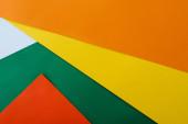 abstrakte geometrische Hintergrund mit bunten hellen Papier