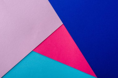 Abstract geometric background with pink, blue and violet paper stock vector