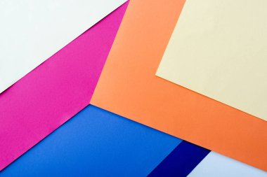 Abstract geometric background with colorful paper stock vector