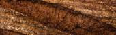 Nahaufnahme von frisch gebackener Brotkruste, Panoramaaufnahme