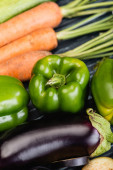 close up view of fresh ripe colorful vegetables
