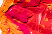 top view of red, orange and pink abstract background