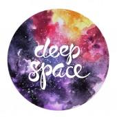 Ručně tažené akvarel ilustrace prostor.