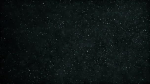 Fehér részecskék sötét absztrakt háttér. Varrat nélküli hurok.