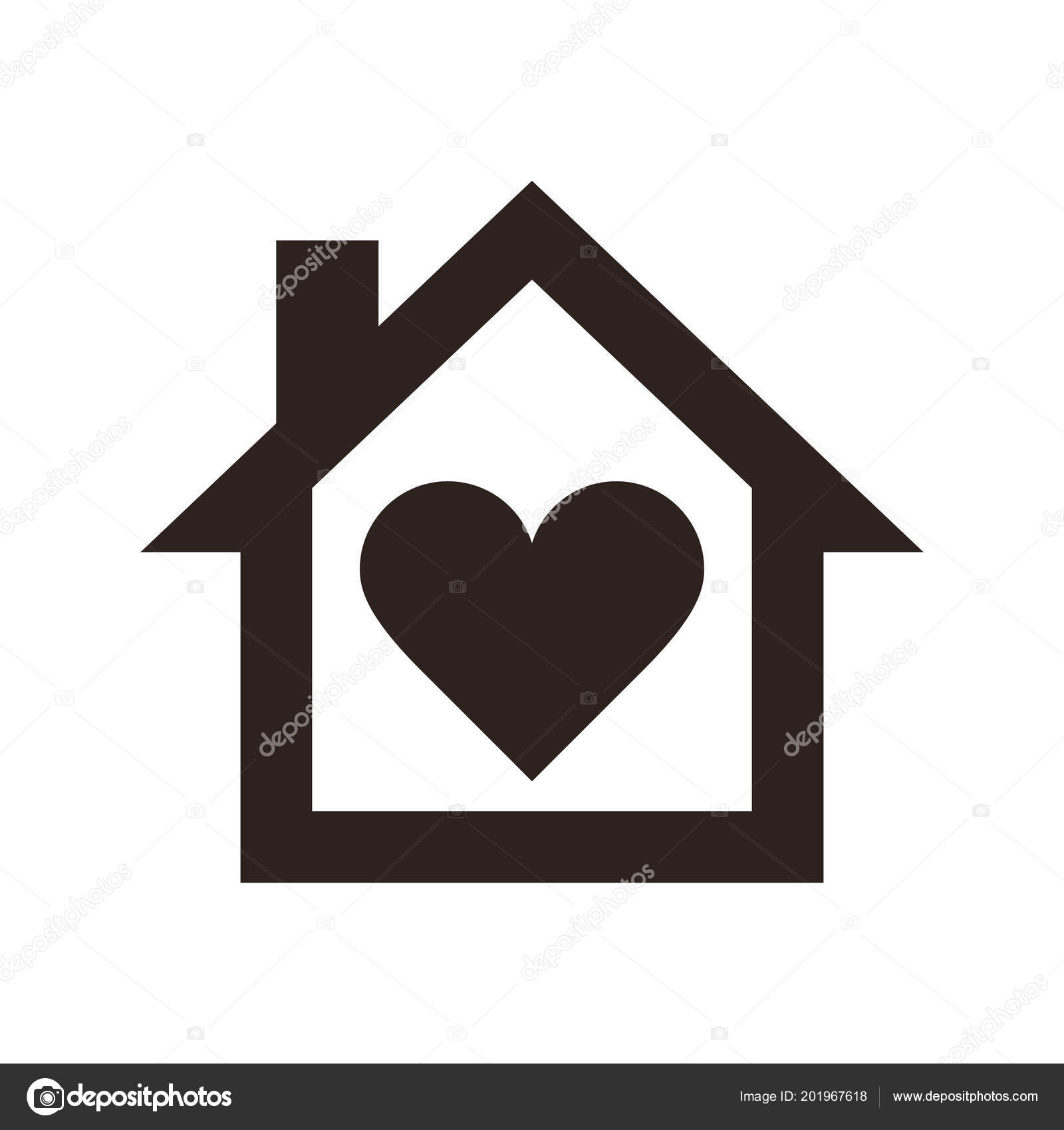haus symbol home symbol isoliert auf wei em hintergrund. Black Bedroom Furniture Sets. Home Design Ideas