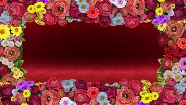 Zökkenőmentes színes animáció a mozgás a színek a kontúr a képernyőn. Hurok