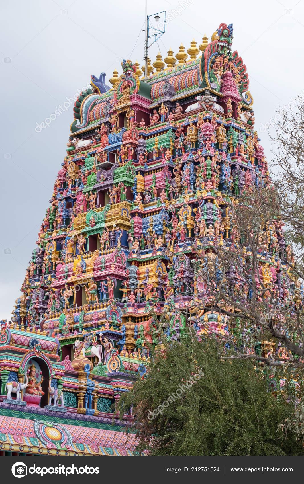 Gopuram Entrance Tower Karpaga Vinayagar Temple Pillaiyarpatti Tamil