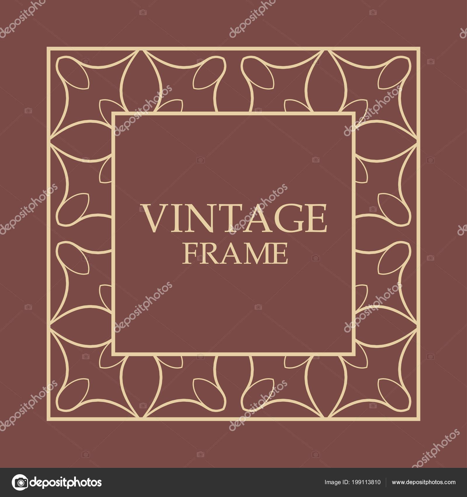 Vintage decorative frame — Stock Vector © Artstockstudia #199113810