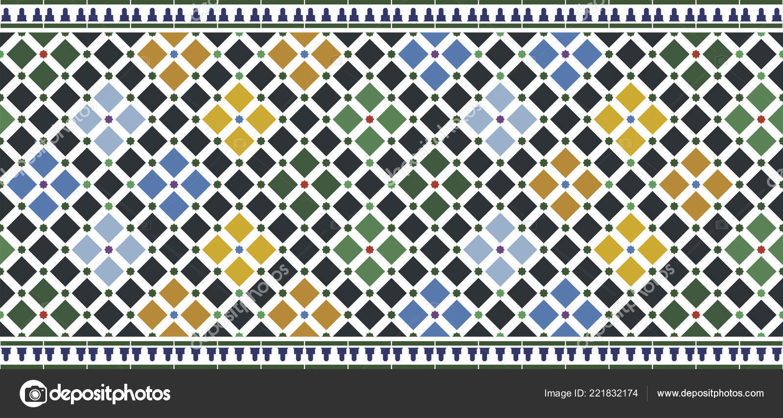 Carreaux Dessin Alhambra Photographie Oculo 221832174