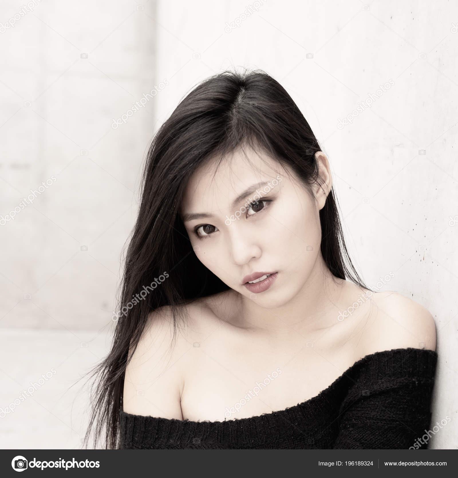 Beautiful Asian Model Fashion Style Portrait — Stock Photo ...