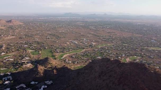 Légi felvétel Észak-Scottsdale területén Arizona a Sunset.