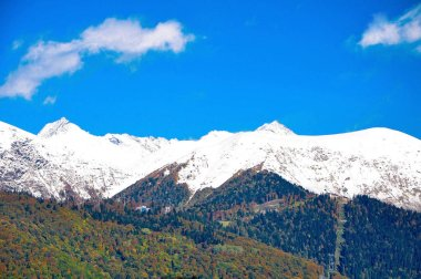 High mountains of the Caucasus in Sochi