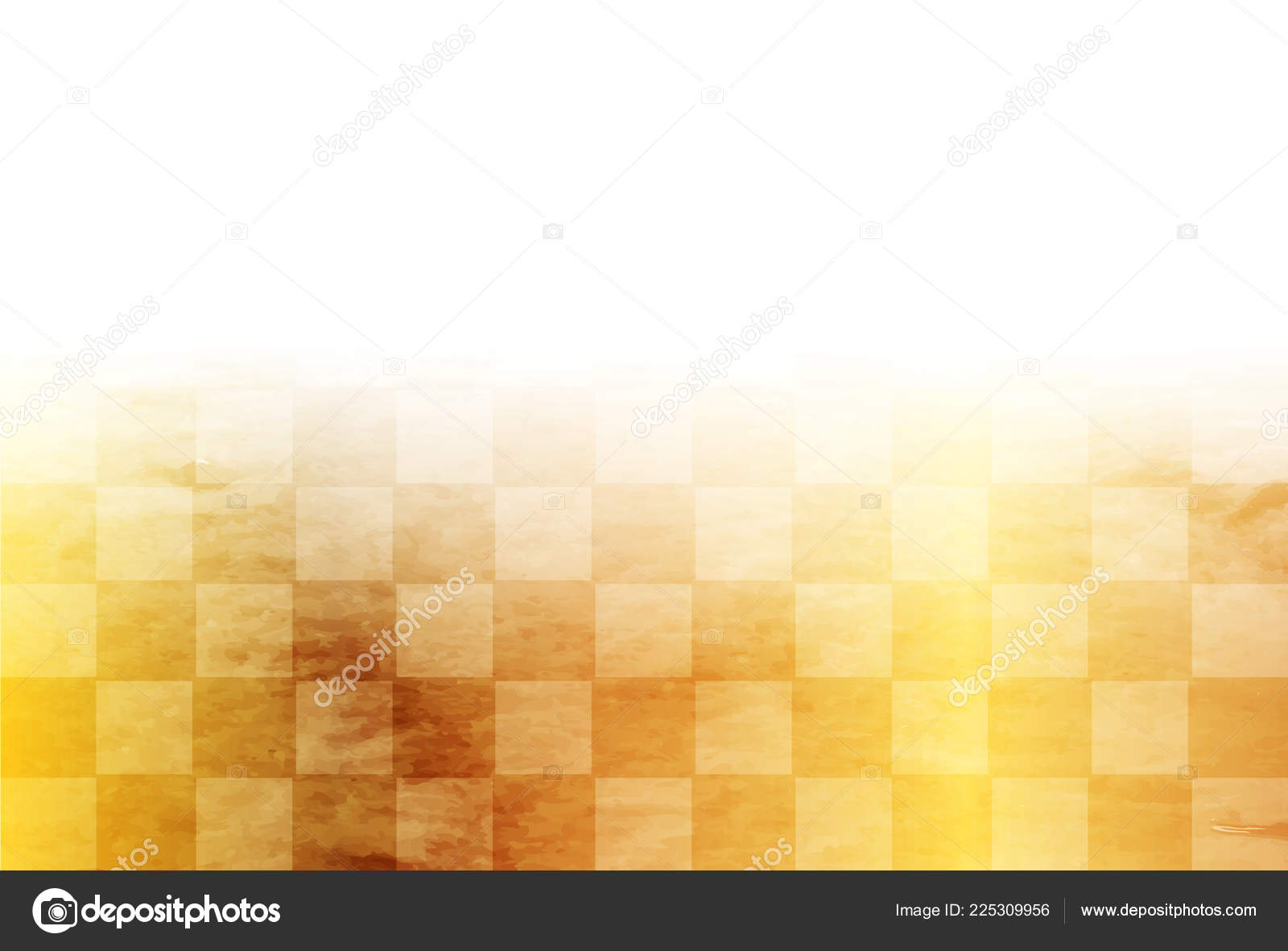 japanese paper gold new year card background stock vector