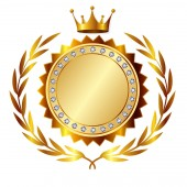 Fotografia Icona di medaglia doro della parte superiore