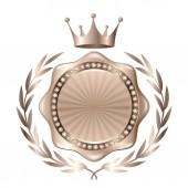 Fotografia Icona di medaglia dargento di corona
