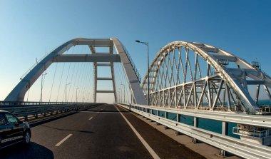 Krymsky Bridge automobile and railway, horizontal photo