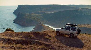 Beauty nature landscape Crimea (Balaklava; Sevastopol; Black sea), traveling off-road concept, horizontal photo