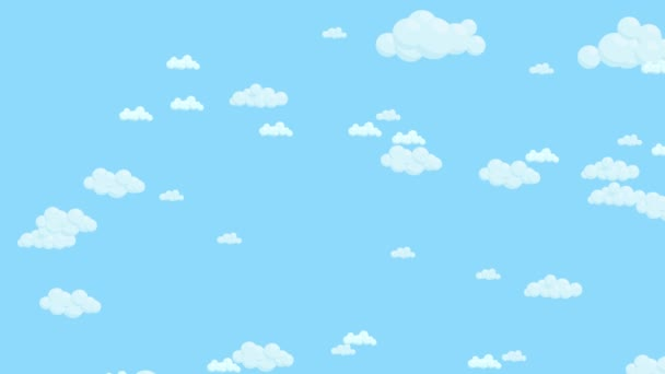 Cielo Azul Lleno De Nubes Moviéndose Al Azar. Dibujos