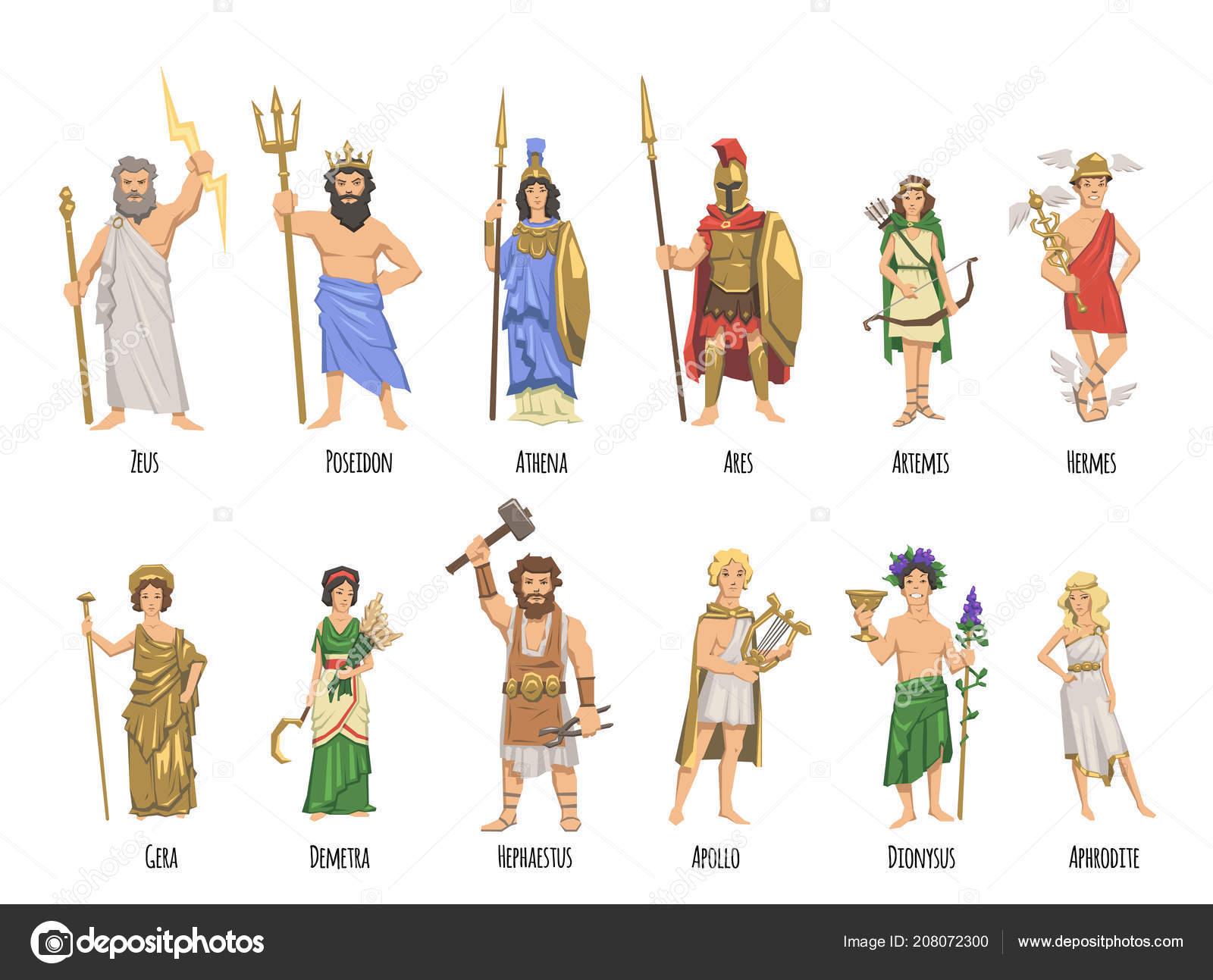 Alle Griechische Götter