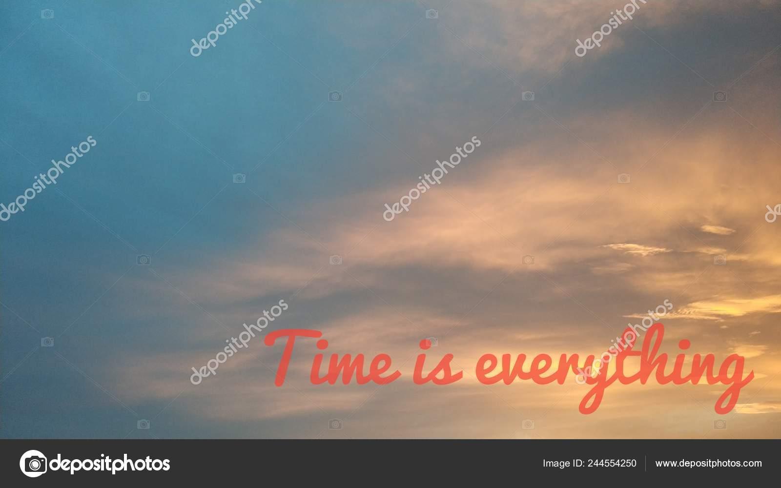 Tempo Tudo Imagem Fundo Bonito Com Texto Motivacional