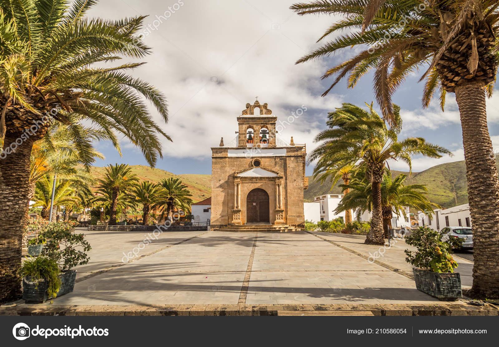Church Nuestra Senora Pena Vega Rio Palmas Fuerteventura Stock