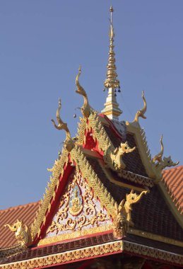 A Rooftop Detail at a Neighborhood Temple, Chiang Mai, Thailand