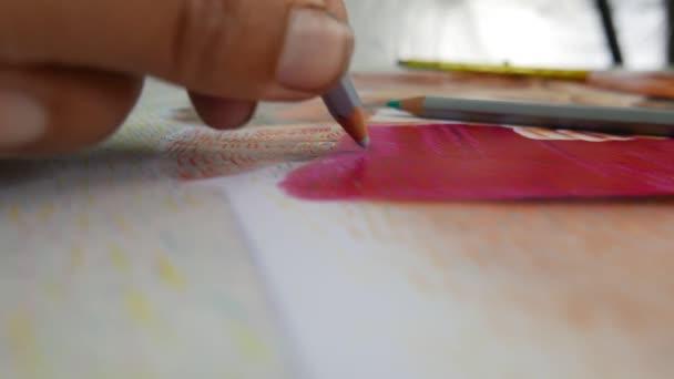 pasztell rajz, művész a munka hegedűművész portré