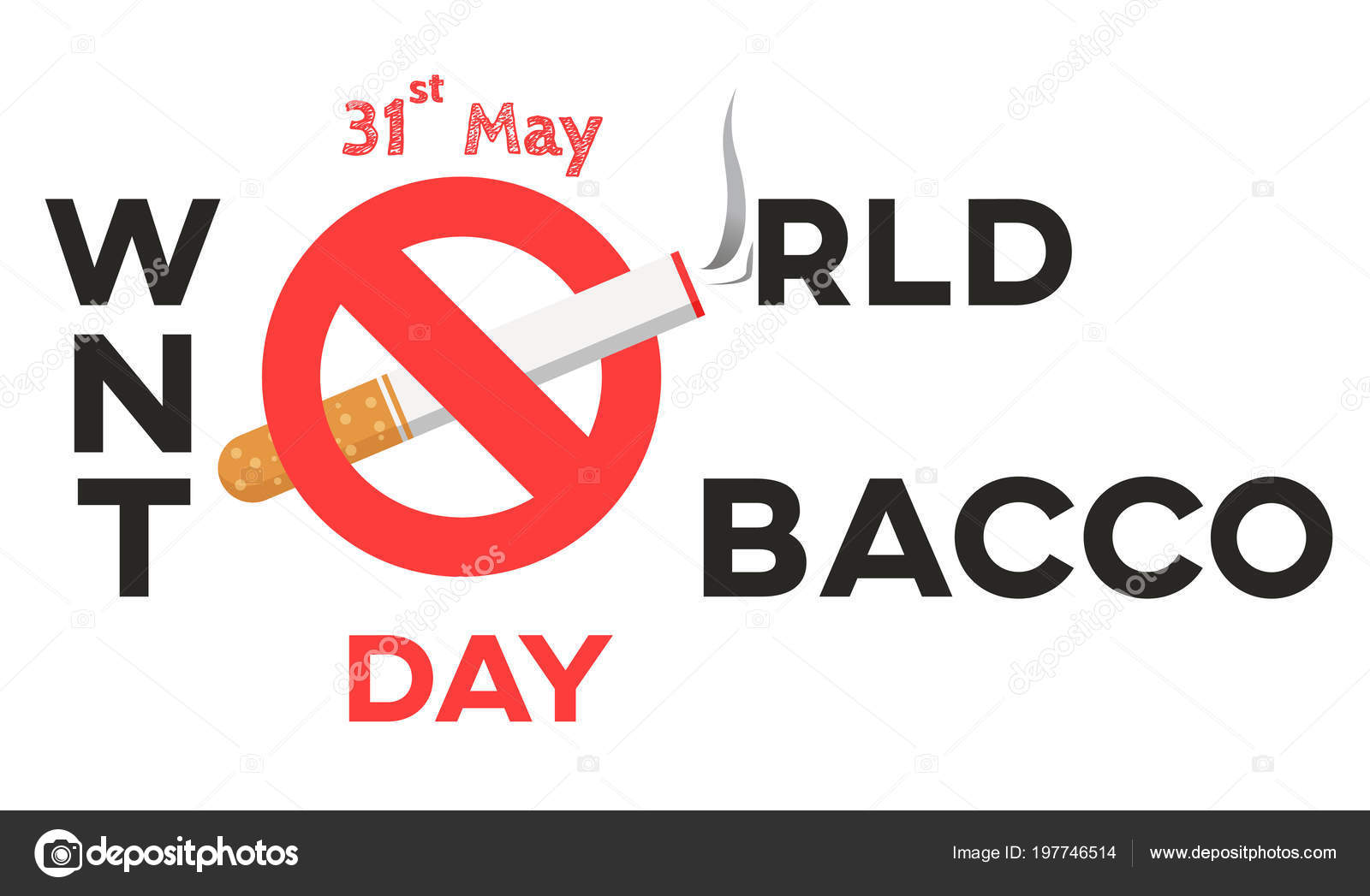 world tobacco day text background greeting card poster campaign stop