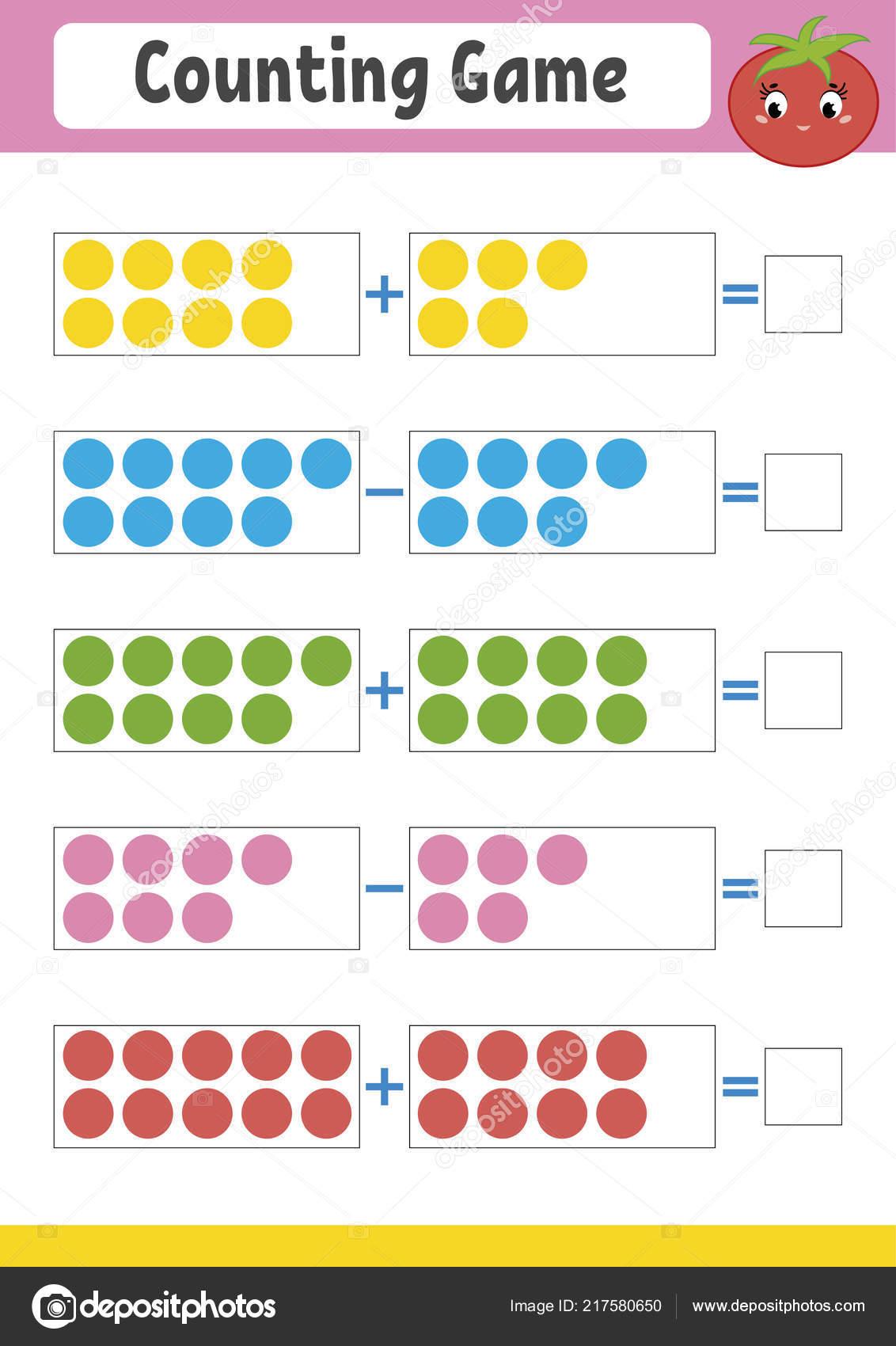 Oyun Okul öncesi Için Sayma Toplama çıkarma Eğitim Matematik Oyunu