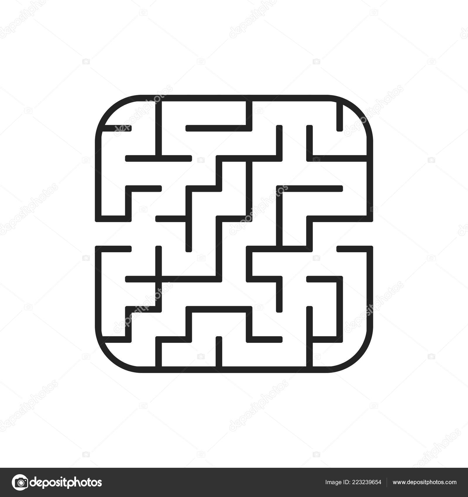 Abstract Square Maze Easy Level Difficulty Game Kids Puzzle