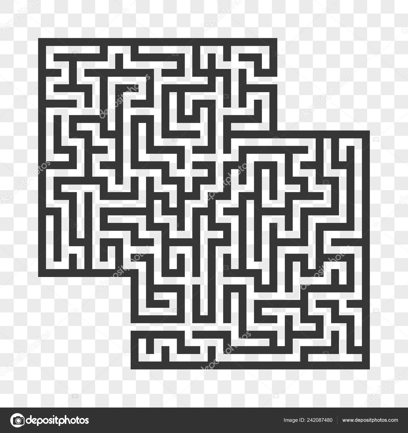 Abstract Square Maze Game Kids Puzzle Children Labyrinth