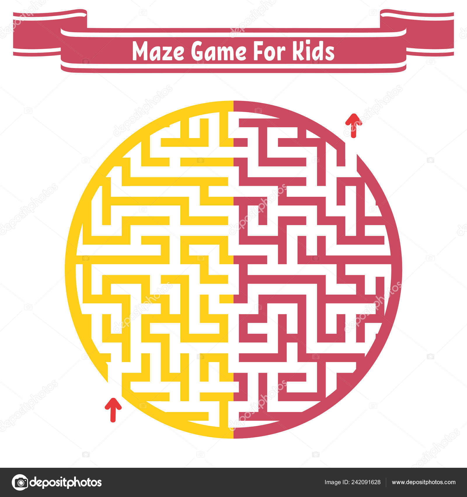 Color Maze Painted Different Colors Game Kids Adults Puzzle ...