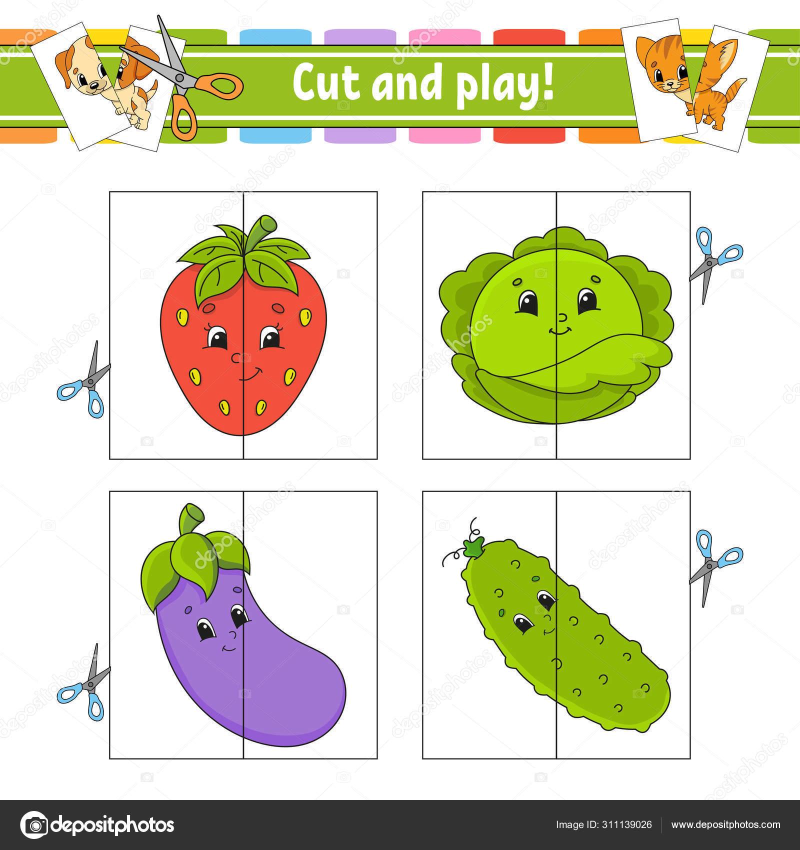 Kesme Ve Oynamak Birden Parlamak Oyun Kagidi Renk Bulmaca