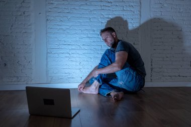 Men suffering Internet cyber bullying