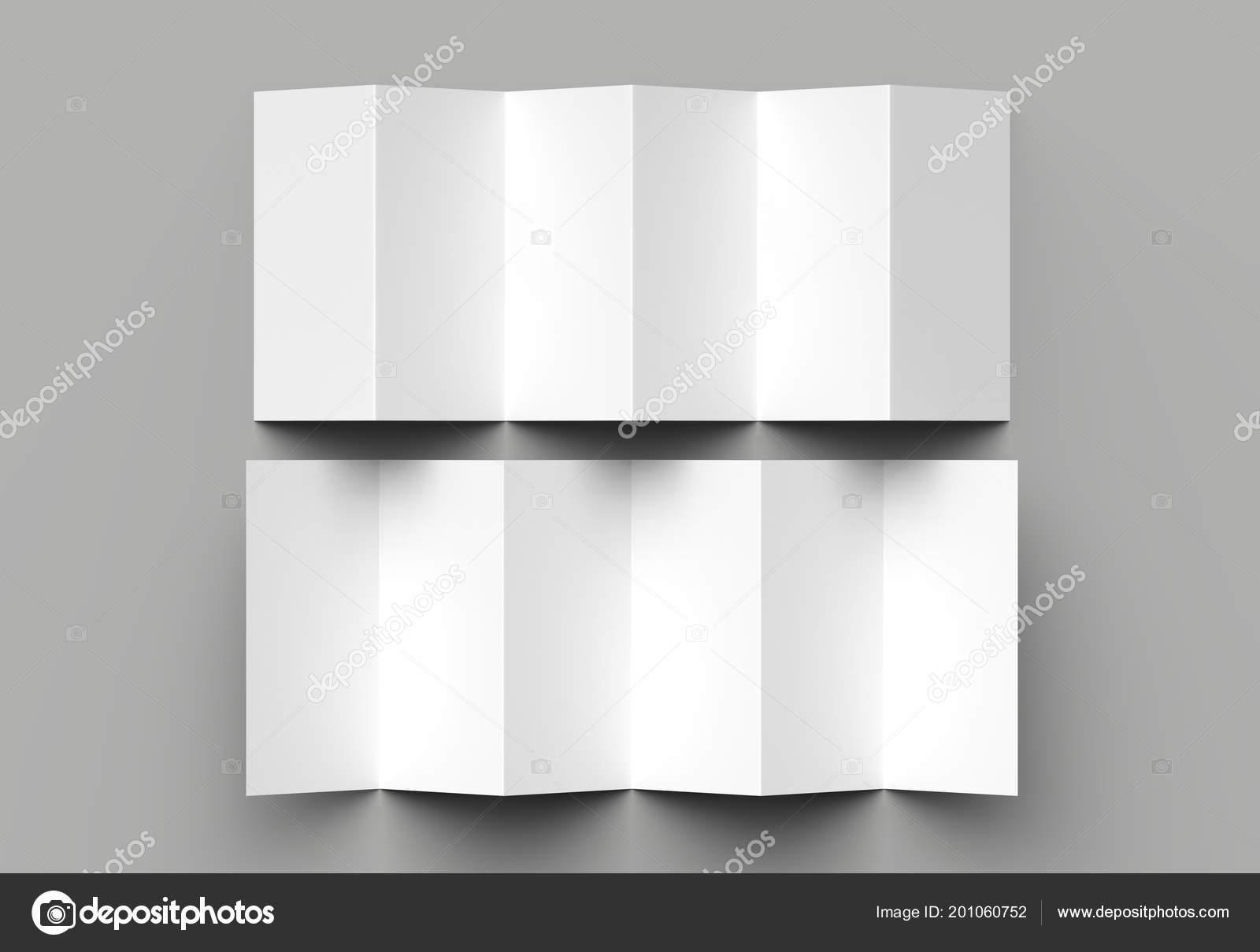page leaflet panel accordion fold fold vertical brochure mock