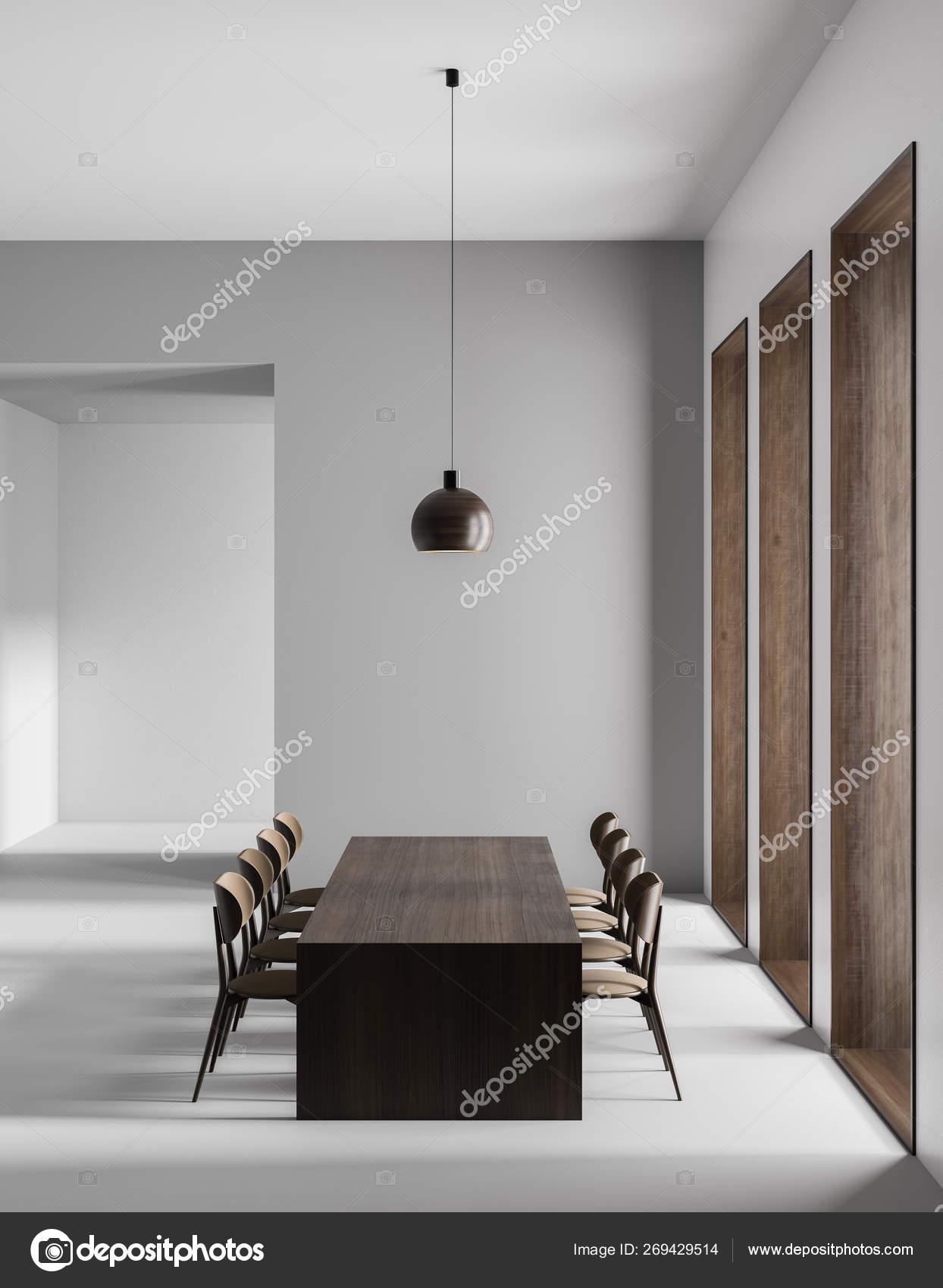 Spacious Modern Dining Room Minimalist Dining Room Design 3d Stock Photo C Sarmdy 269429514