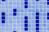 Fotografie Vollbild der Wand mit blauen Keramikfliesen Hintergrund
