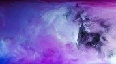 Fotografie abstract blue, white and purple artistic background with flowing paint