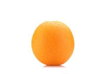 Close up view of fresh wholesome orange isolated on white stock vector