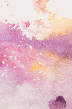 Full frame shot of colorful watercolor stains for background stock vector