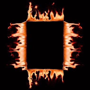 kare kare siyah izole yanan görünümü kadar kapatın