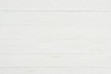 Close-up view of white wooden background with horizontal planks stock vector